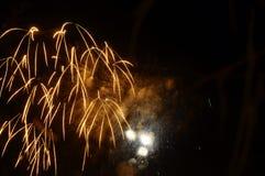 Feuerwerke nachts Stockfoto