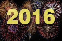 Feuerwerke nachts der neuen Jahre Lizenzfreies Stockbild