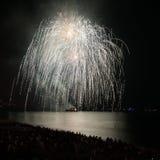 Feuerwerke, Nizza, Frankreich Lizenzfreie Stockbilder
