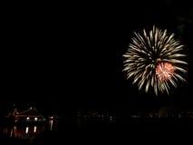 Feuerwerke in Reykjavik Lizenzfreies Stockfoto
