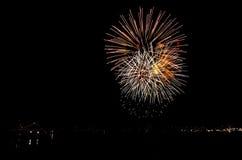 Feuerwerke in Reykjavik Stockfotografie