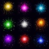 Feuerwerke, Set Lizenzfreie Stockfotografie