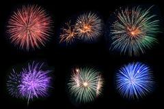 Feuerwerke stellten ein Stockbild