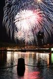 Feuerwerke in Stillwater Lizenzfreies Stockfoto