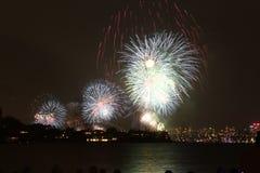 Feuerwerke in Sydney stockfotos