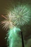 Feuerwerke in Tampere, Finnland Lizenzfreie Stockfotos