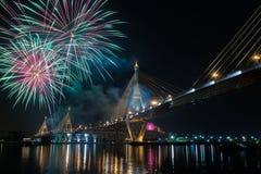 Feuerwerke in Thailand lizenzfreies stockbild