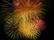 Feuerwerke in Venedig lizenzfreies stockfoto