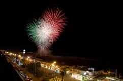 Feuerwerke, Viareggio, Toskana Lizenzfreie Stockbilder