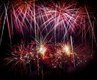 Feuerwerke vier Stockbild