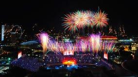 Feuerwerke während NDP 2010 Lizenzfreies Stockfoto