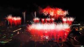 Feuerwerke während NDP 2010 Stockbilder