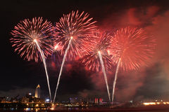 Feuerwerke zeigen in Taiwan Stockfotos