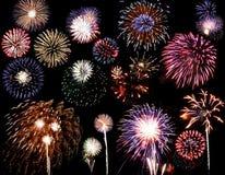 Feuerwerke zusammengesetzt stockbilder