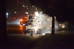 Feuerwerks-Brunnen Stockfoto