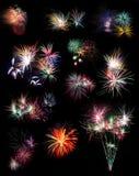 Feuerwerks-Collage Stockfoto