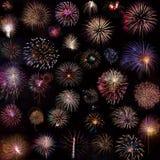 Feuerwerks-Collage lizenzfreie stockbilder