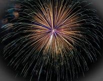 Feuerwerks-Explosion in Brookfield, WI Stockbild