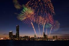 Feuerwerks-Festival in Seoul-Stadt, Südkorea Lizenzfreie Stockfotos