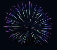 Feuerwerks-Hintergrund-Weihnachten Stockfoto