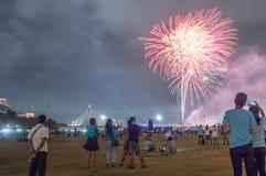 Feuerwerks-Thailand-Festival Stockfotos
