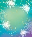 Feuerwerks- und Feierhintergrund Lizenzfreies Stockfoto