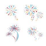 Feuerwerks-Vektor Lizenzfreie Stockbilder