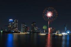 Feuerwerksanzeige für Feier Lizenzfreies Stockfoto