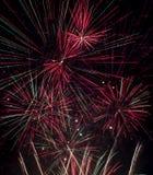 Feuerwerksanzeige mit ausgedehnter Belichtung Stockfotos