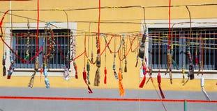 Feuerwerkschießpulver-Kracher von Spanien Stockfotos