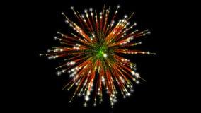 Feuerwerksexplosion mit Funken stockbilder