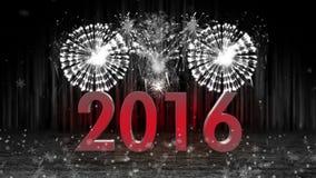 Feuerwerksexplosion zum Nocken 2016 Stadiums noch FARBLOS stock abbildung