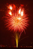Feuerwerksfeiern für Sylvesterabende Stockfotografie