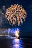 Feuerwerksfestival 2017 stockfotos