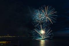 Feuerwerksfestival 2017 lizenzfreie stockbilder