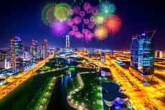Feuerwerksfestival am Central Park in Incheon, Südkorea Lizenzfreies Stockbild