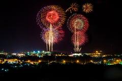 Feuerwerksfestival war Show Stockbilder
