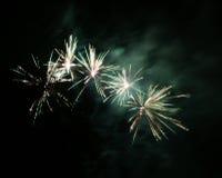 Feuerwerkslichtspuren lizenzfreies stockbild