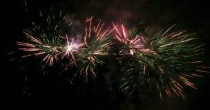 Feuerwerkslichtspuren stockbild
