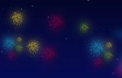 Feuerwerksnacht vektor abbildung