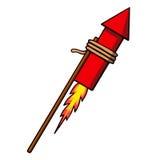 Feuerwerksrakete. Vektorillustration Lizenzfreie Stockfotos