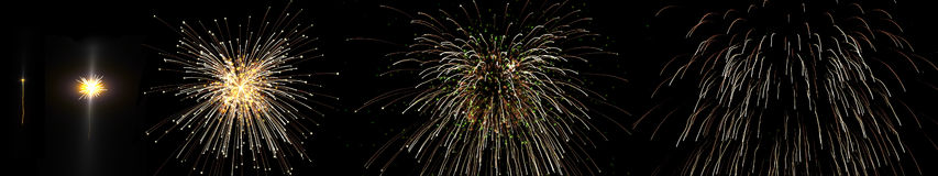 Feuerwerksreihenfolge lizenzfreie abbildung