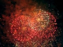 Feuerwerksshow Stockfotos