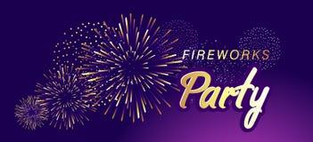Feuerwerksshowfahne lizenzfreie abbildung