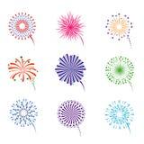 Feuerwerksvektorsatz Lizenzfreie Stockbilder