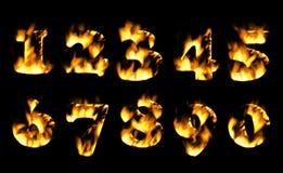 Feuerzahl, Zahlen in der Flamme Teil 6 stock abbildung