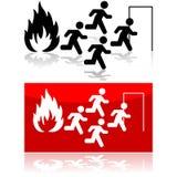 Feuerzeichen Stockfotos