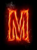 Feuerzeichen M Lizenzfreie Stockfotos