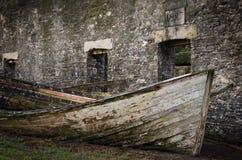 Feuerzeug und Ruinen, Norfolk-Insel Stockfotografie