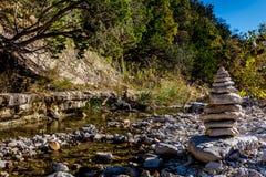 Feuillage d'automne au parc d'état perdu d'érables dans le Texas photos libres de droits